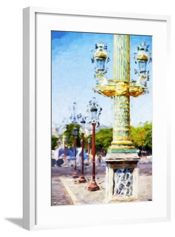 Paris Architecture III - In the Style of Oil Painting-Philippe Hugonnard-Framed Art Print