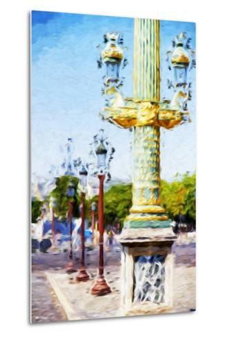 Paris Architecture III - In the Style of Oil Painting-Philippe Hugonnard-Metal Print