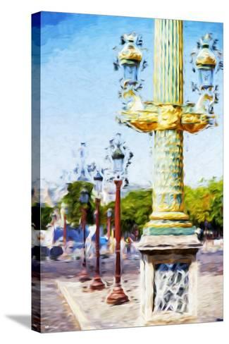 Paris Architecture III - In the Style of Oil Painting-Philippe Hugonnard-Stretched Canvas Print