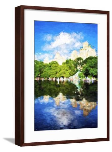 Summer Reflections - In the Style of Oil Painting-Philippe Hugonnard-Framed Art Print