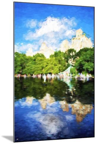 Summer Reflections - In the Style of Oil Painting-Philippe Hugonnard-Mounted Giclee Print