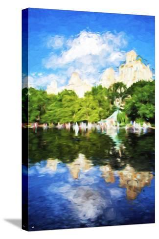 Summer Reflections - In the Style of Oil Painting-Philippe Hugonnard-Stretched Canvas Print