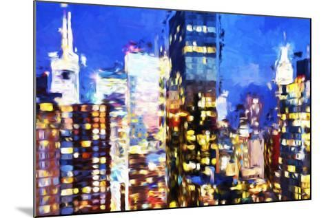 Manhattan Night VIII - In the Style of Oil Painting-Philippe Hugonnard-Mounted Giclee Print