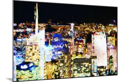 New York Skyline III - In the Style of Oil Painting-Philippe Hugonnard-Mounted Giclee Print