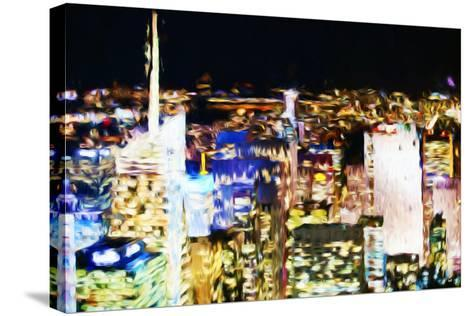 New York Skyline III - In the Style of Oil Painting-Philippe Hugonnard-Stretched Canvas Print