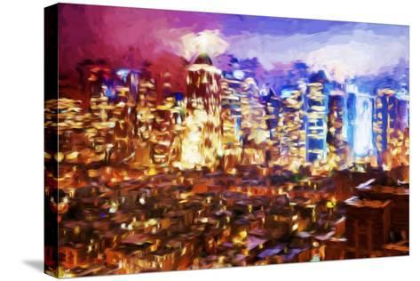 City of Lights II - In the Style of Oil Painting-Philippe Hugonnard-Stretched Canvas Print