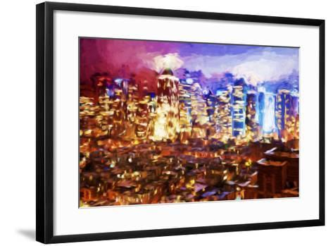 City of Lights II - In the Style of Oil Painting-Philippe Hugonnard-Framed Art Print