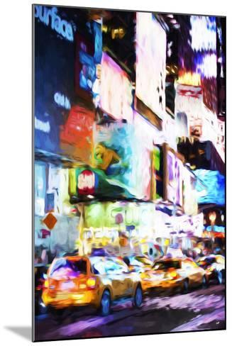 Night Times Square - In the Style of Oil Painting-Philippe Hugonnard-Mounted Giclee Print