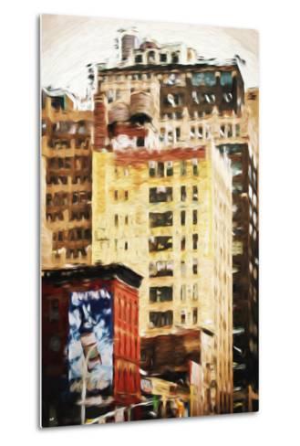 Midtown Buildings - In the Style of Oil Painting-Philippe Hugonnard-Metal Print