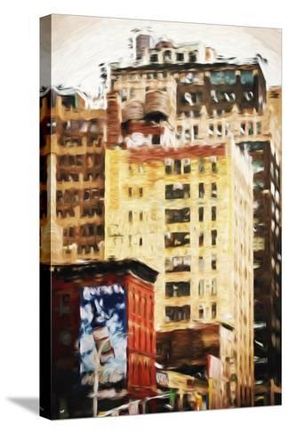 Midtown Buildings - In the Style of Oil Painting-Philippe Hugonnard-Stretched Canvas Print