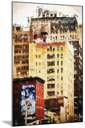 Midtown Buildings - In the Style of Oil Painting-Philippe Hugonnard-Mounted Giclee Print
