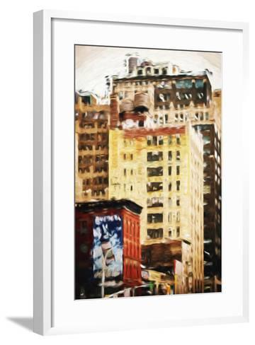 Midtown Buildings - In the Style of Oil Painting-Philippe Hugonnard-Framed Art Print