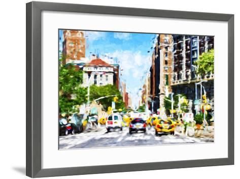 NYC Urban Scene - In the Style of Oil Painting-Philippe Hugonnard-Framed Art Print
