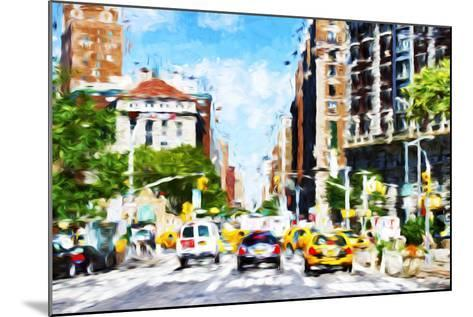 NYC Urban Scene - In the Style of Oil Painting-Philippe Hugonnard-Mounted Giclee Print