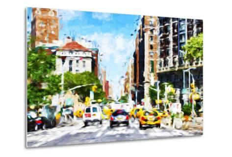 NYC Urban Scene - In the Style of Oil Painting-Philippe Hugonnard-Metal Print