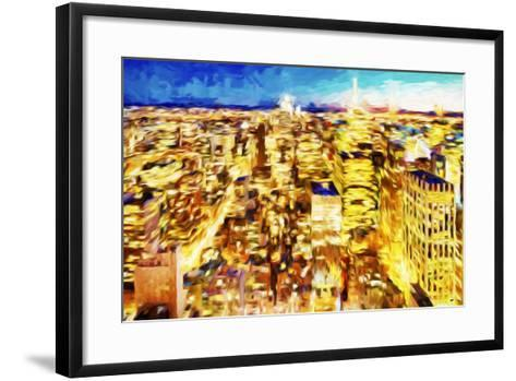 NYC Nightscape II - In the Style of Oil Painting-Philippe Hugonnard-Framed Art Print