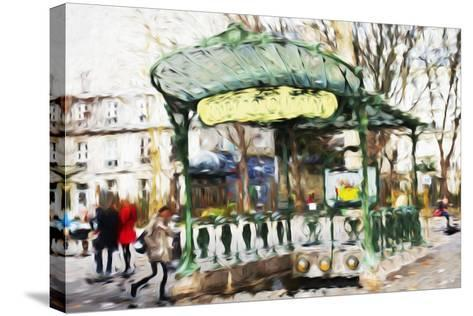 Subway Entrance - In the Style of Oil Painting-Philippe Hugonnard-Stretched Canvas Print