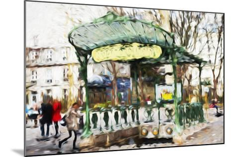 Subway Entrance - In the Style of Oil Painting-Philippe Hugonnard-Mounted Giclee Print
