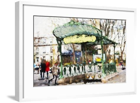 Subway Entrance - In the Style of Oil Painting-Philippe Hugonnard-Framed Art Print