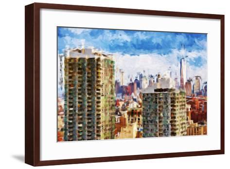 New York Skyline V - In the Style of Oil Painting-Philippe Hugonnard-Framed Art Print