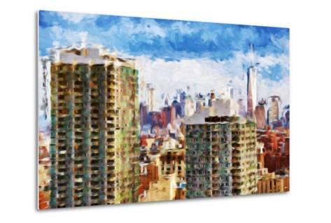 New York Skyline V - In the Style of Oil Painting-Philippe Hugonnard-Metal Print