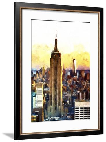 1WTC & Empire State II-Philippe Hugonnard-Framed Art Print