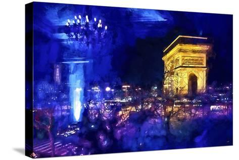 Blue Night in Paris-Philippe Hugonnard-Stretched Canvas Print