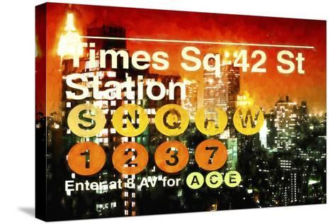 Times Square 42st Station II-Philippe Hugonnard-Stretched Canvas Print