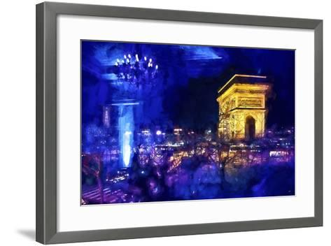 Blue Night in Paris-Philippe Hugonnard-Framed Art Print