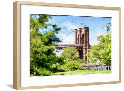 The Brooklyn Bridge - In the Style of Oil Painting-Philippe Hugonnard-Framed Art Print