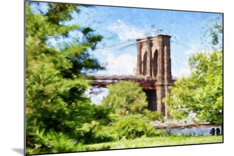 The Brooklyn Bridge - In the Style of Oil Painting-Philippe Hugonnard-Mounted Giclee Print