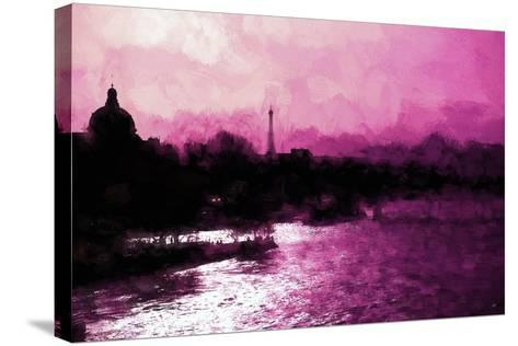 Paris Pink Sunset-Philippe Hugonnard-Stretched Canvas Print