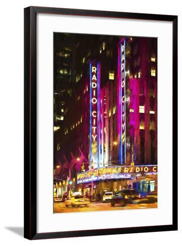 Radio City Music Hall-Philippe Hugonnard-Framed Art Print