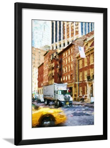 Manhattan Traffic - In the Style of Oil Painting-Philippe Hugonnard-Framed Art Print