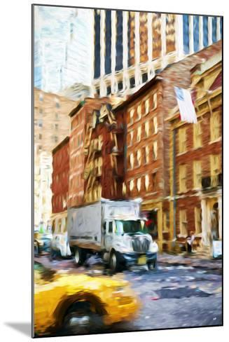 Manhattan Traffic - In the Style of Oil Painting-Philippe Hugonnard-Mounted Giclee Print