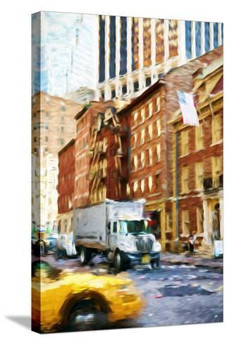 Manhattan Traffic - In the Style of Oil Painting-Philippe Hugonnard-Stretched Canvas Print