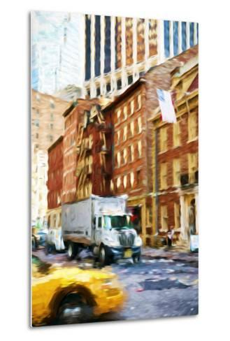 Manhattan Traffic - In the Style of Oil Painting-Philippe Hugonnard-Metal Print