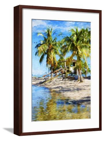 Life Guard Station V - In the Style of Oil Painting-Philippe Hugonnard-Framed Art Print