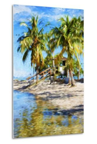 Life Guard Station V - In the Style of Oil Painting-Philippe Hugonnard-Metal Print