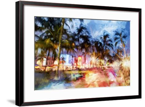 Miami Beach Night - In the Style of Oil Painting-Philippe Hugonnard-Framed Art Print