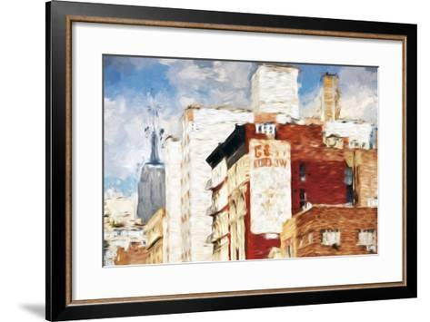 NYC Architecture - In the Style of Oil Painting-Philippe Hugonnard-Framed Art Print