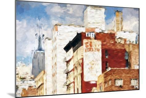 NYC Architecture - In the Style of Oil Painting-Philippe Hugonnard-Mounted Giclee Print