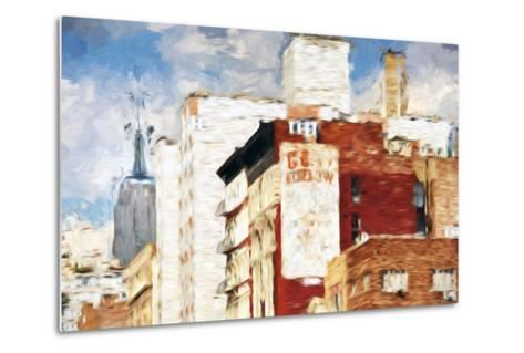 NYC Architecture - In the Style of Oil Painting-Philippe Hugonnard-Metal Print