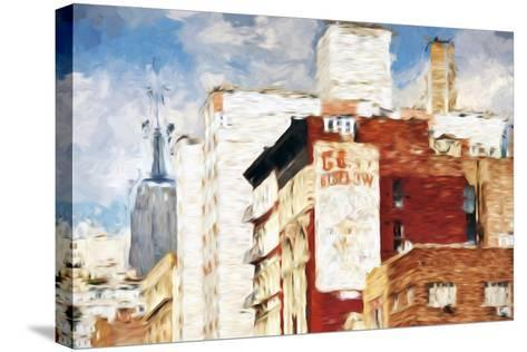 NYC Architecture - In the Style of Oil Painting-Philippe Hugonnard-Stretched Canvas Print