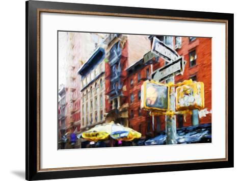 NYC Scenes - In the Style of Oil Painting-Philippe Hugonnard-Framed Art Print