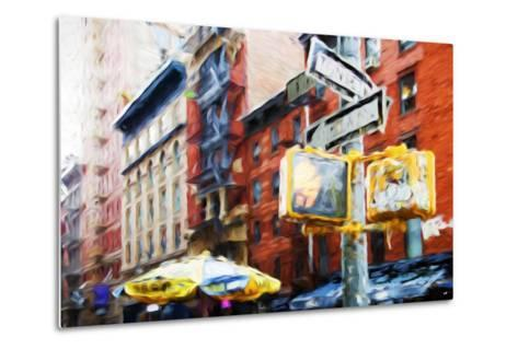 NYC Scenes - In the Style of Oil Painting-Philippe Hugonnard-Metal Print