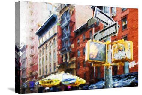 NYC Scenes - In the Style of Oil Painting-Philippe Hugonnard-Stretched Canvas Print