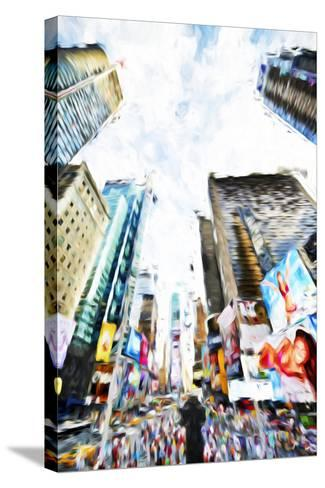 Times Square IV - In the Style of Oil Painting-Philippe Hugonnard-Stretched Canvas Print