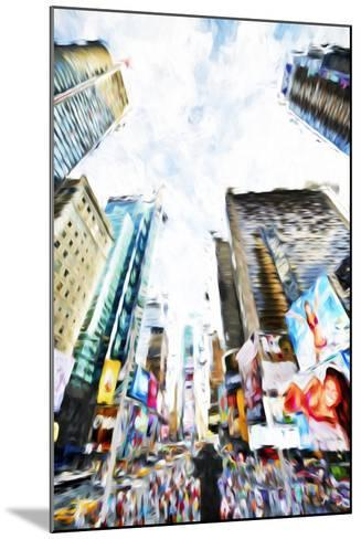 Times Square IV - In the Style of Oil Painting-Philippe Hugonnard-Mounted Giclee Print