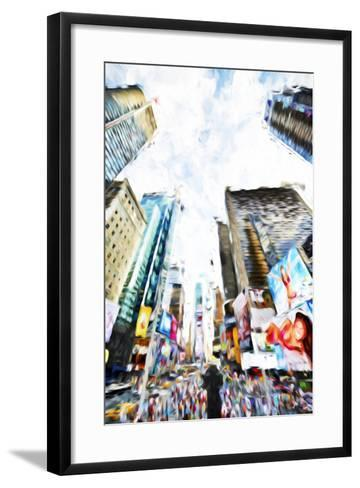 Times Square IV - In the Style of Oil Painting-Philippe Hugonnard-Framed Art Print